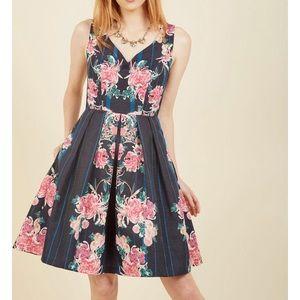 Modcloth Floral formal dress